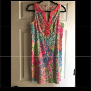 Lilly Pulitzer bright Lovers Coral dress